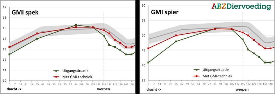 GMI-techniek: spekdikte en spierdikte verloop van zeugen inzichtelijk maken