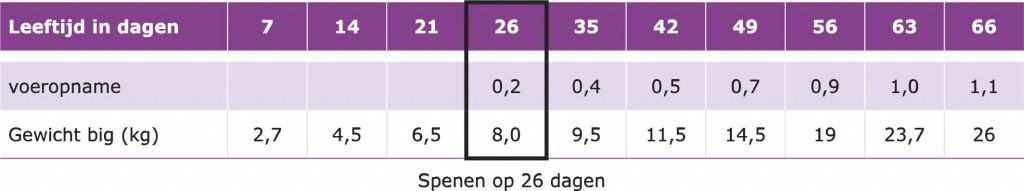 Dynamo_voeren_biggen_streefwaarden-voeropname